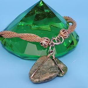 🆕️Faux Jade wrapped•goldtone•Bundle & save!